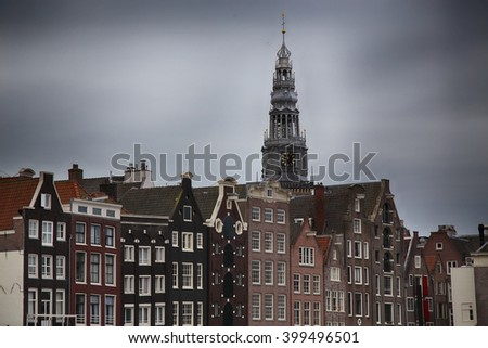 details of beautiful Amsterdam, Netherlands - stock photo