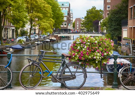 details of beautiful Amsterdam, Netherlands