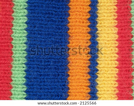 Details of child wool cap three, close-up - stock photo