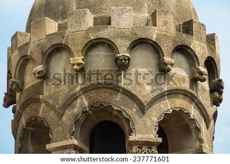 Details of church on Tibidabo mountain, Barcelona, Spain - stock photo