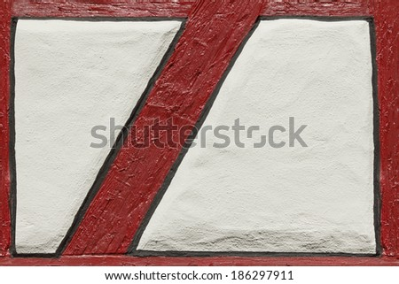 Details of fachwerk architecture style, Germany - stock photo