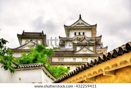 Details of Himeji Castle in the Kansai region of Japan - stock photo