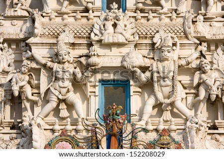 Details of Hindus god in a temple, Pushkar, Rajasthan, India. - stock photo