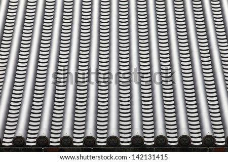 details of japanese temple roof architecture - stock photo