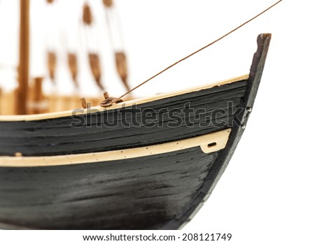 details of model of the ship  - stock photo