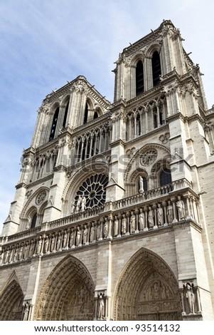 Details of Notre Dame de Paris - stock photo