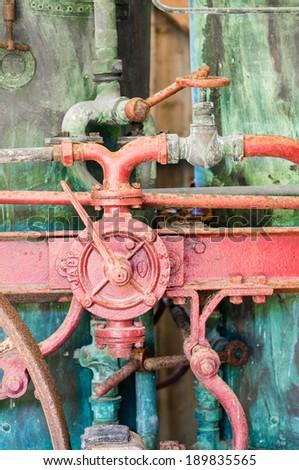 Details of old distiller, Brittany, France - stock photo