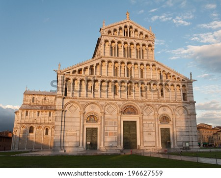 Details of Piazza Miracoli Pisa in Italy