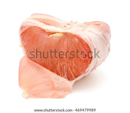 details of red ruby grapefruit segment