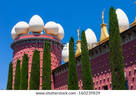 Details of Salvador Dali museum in Figueras, Spain - stock photo