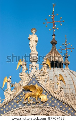 Details of St. Marks Cathedral in Venice, Italy - stock photo