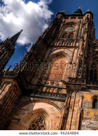 Details of St. Vitus Cathedral in Prague