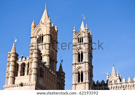 Details of the beautiful cathedral of Palermo