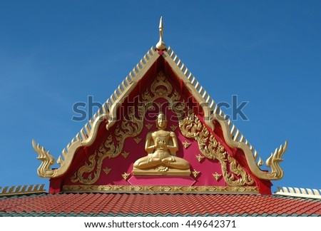 Details of the Buddhist temple in Albuquerque, New Mexico - stock photo