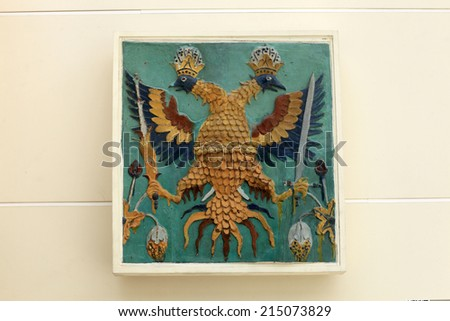 Details of the coat of arms, Moscow, Russia - stock photo