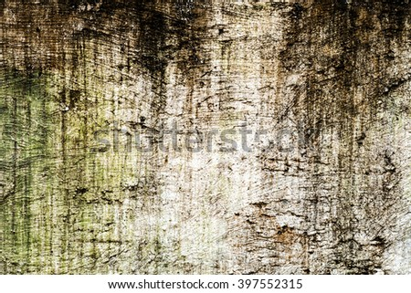 Details of the eroded surface of the old concrete wall. - stock photo