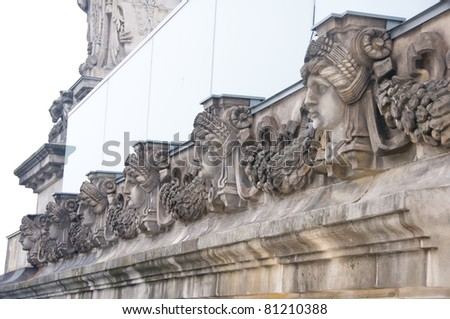 Details of the Reichtag roof terrace - stock photo