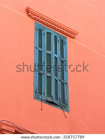 Details of Traditional Architecture in Beirut: Green Shuttered Window