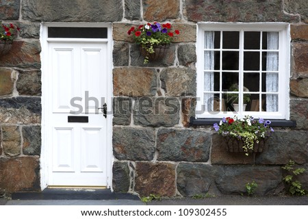 Details of traditional cottage. Village in Snowdonia, North Wales, UK - stock photo