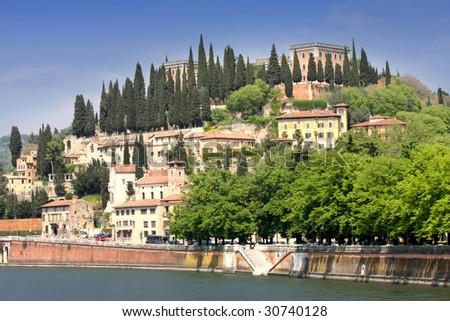 details panoramic view of Verona, Italy - stock photo