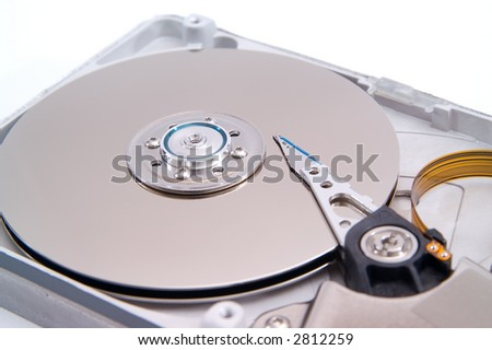 Detalied open hard drive