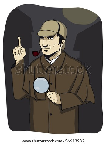 detective solves the mystery. - stock photo