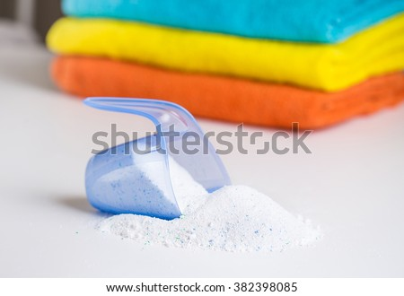 Detergent and towels - stock photo