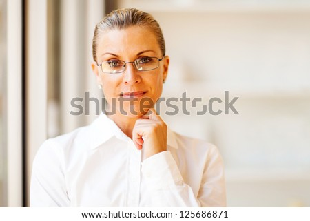 determined senior businesswoman in office - stock photo