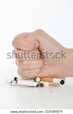 Determined to quit smoking - stock photo