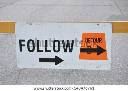 Detour sign - stock photo