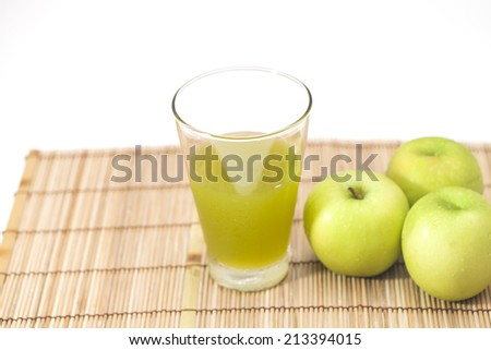 detox cocktail of green apple - stock photo