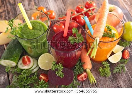 detox vegetable juice - stock photo
