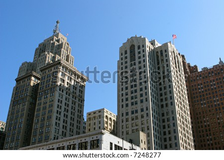 Detroit High-rises - stock photo