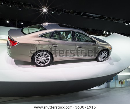 DETROIT, MI/USA - JANUARY 11, 2016: Buick LaCrosse car at the North American International Auto Show (NAIAS), one of the most influential car shows in the world each year.