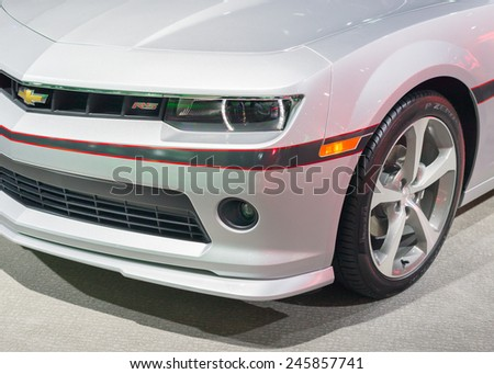 DETROIT, MI/USA - JANUARY 20, 2015: Chevrolet Camaro RS at the North American International Auto Show (NAIAS), one of the most influential car shows in the world each year. - stock photo