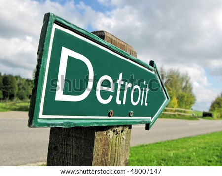 DETROIT road sign