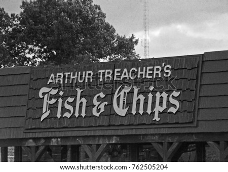 DETROIT 11 1975 Arthur Fish Chips Stock Photo Royalty Free 762505204