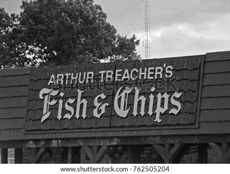 DETROIT 11 1975 Arthur Fish Chips Stock Photo Royalty Free 762505204