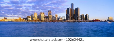 Detroit, Sunrise, Michigan - stock photo