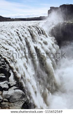 Dettifoss waterfall, Iceland - stock photo