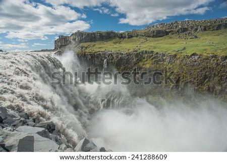 Dettifoss waterfall, Iceland - stock photo