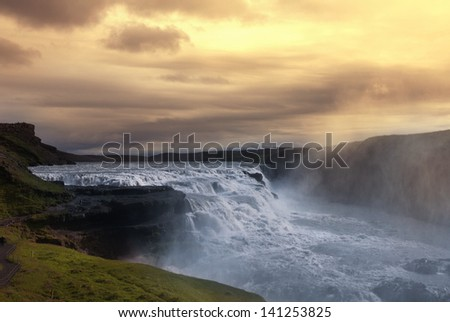 Dettifoss waterfall in Iceland - stock photo
