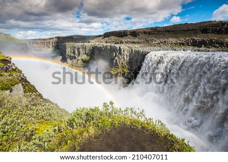 Dettifoss waterfall, Vatnajokull National Park, Iceland - stock photo