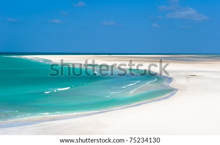 Detwah lagoon, Socotra island, Yemen - stock photo