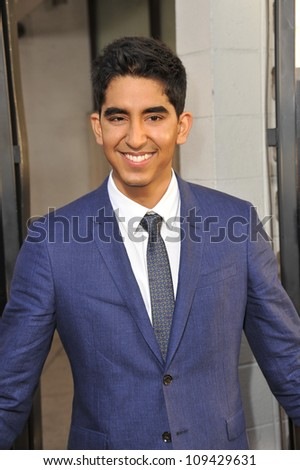 """Dev Patel at the Los Angeles premiere for HBO's new series """"The Newsroom"""" at the Cinerama Dome, Hollywood. June 21, 2012  Los Angeles, CA Picture: Paul Smith / Featureflash - stock photo"""