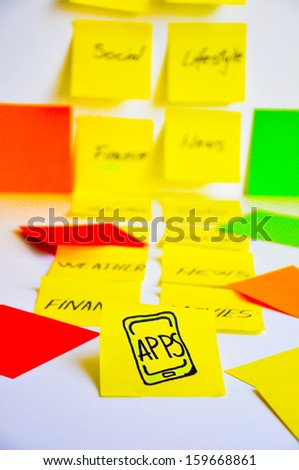 Develop smartphone apps - stock photo