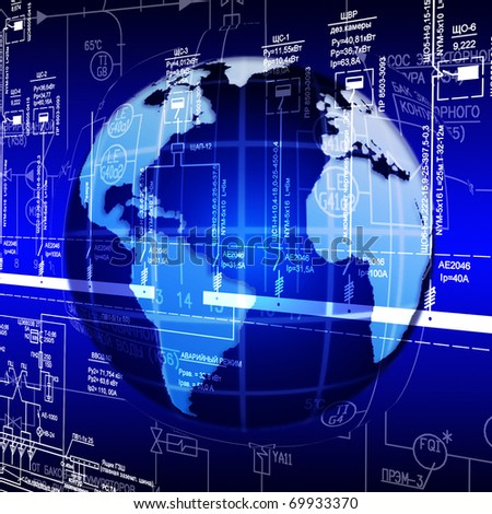 Development of the highest world the Internet of technologies - stock photo