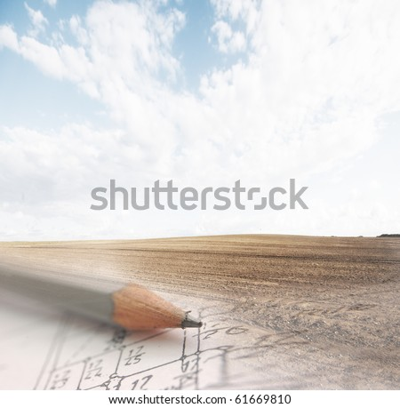 Development plan vision. Design, real estate business conceptual image. - stock photo