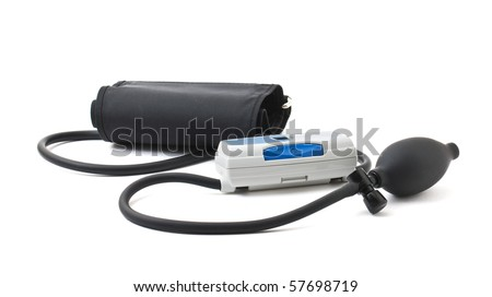 device measuring blood pressure isolated on a white backgrounds
