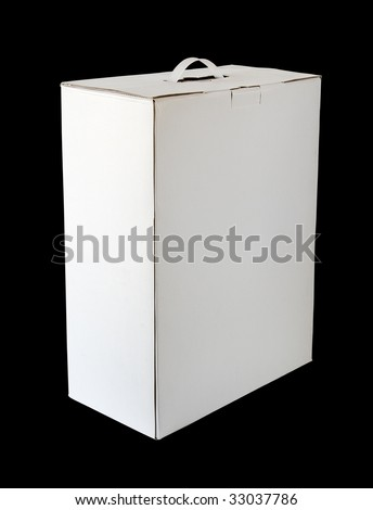 device packing cardboard box - stock photo